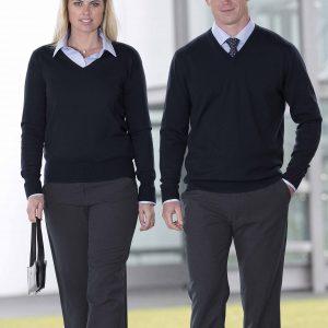 Merino Detailed Vee Pullover - Womens