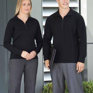 Merino Zip Pullover - Mens