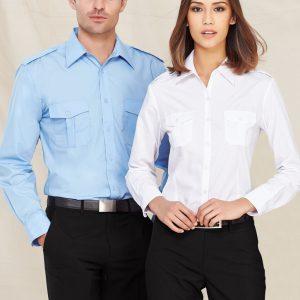 Eppaulette Mens L/S Shirt