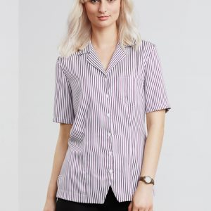 Oasis Ladies Stripe Overblouse
