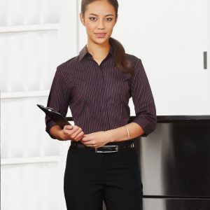 Reno Ladies Stripe ¾/S Shirt