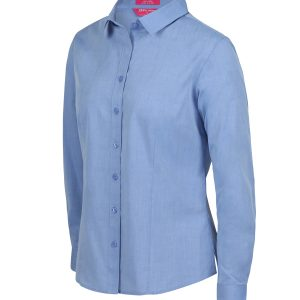 JB's LADIES CLASSIC L/S FINE CHAMBRAY SHIRT