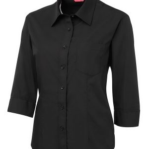 JB'S LADIES CONTRAST PLACKET 3/4 SHIRT