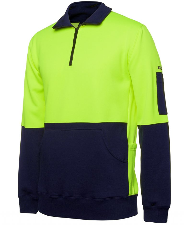 JB's HI VIS 330G 1/2 ZIP FLEECE