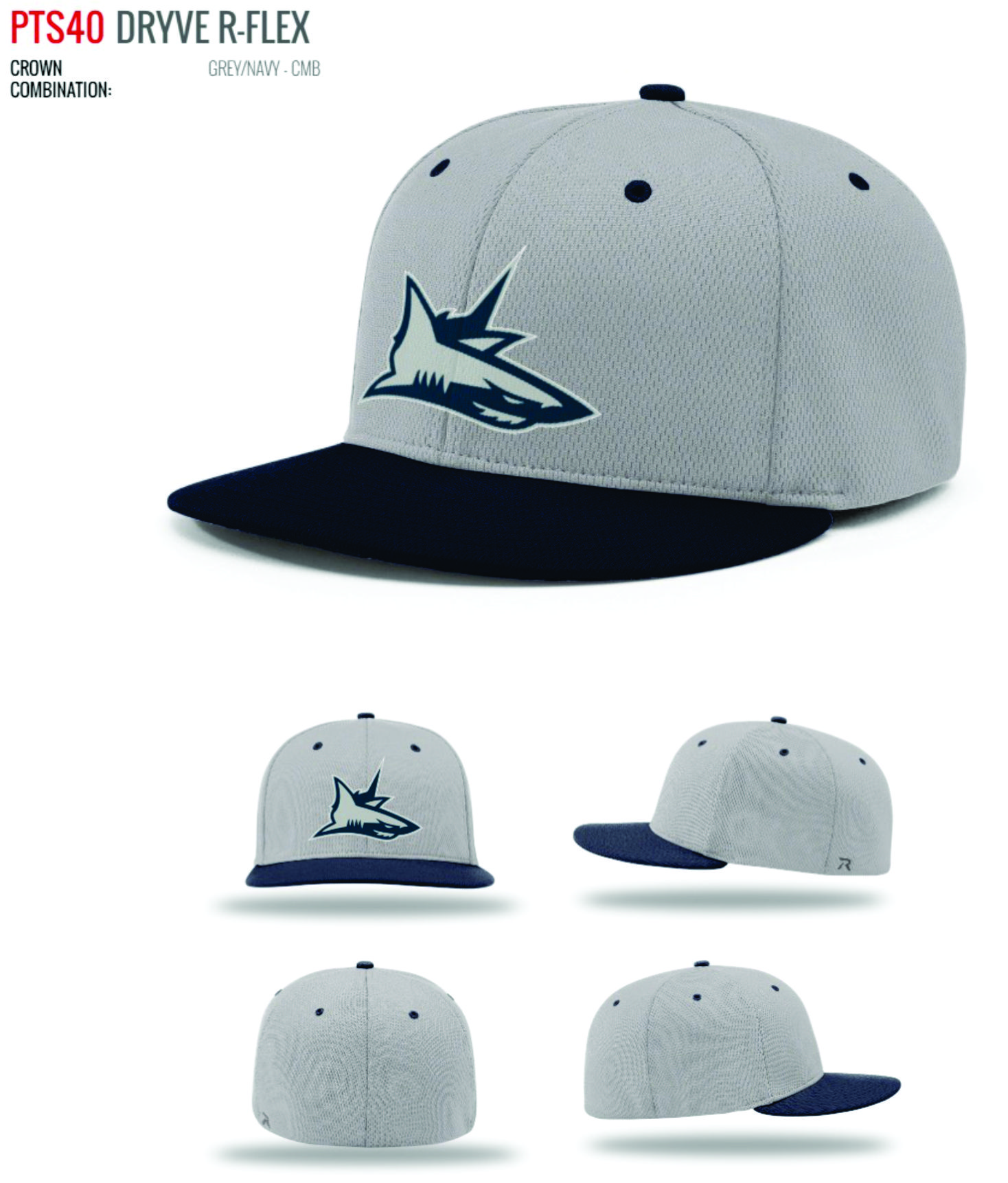 8ef337bd7cb FITTED SHARKS PLAYER CAP - PTS-40 - RETAIL
